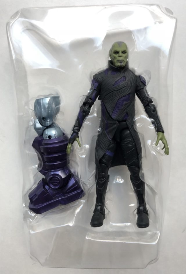 Captain Marvel Legends Skrull Talos Figure in Packaging Bubble