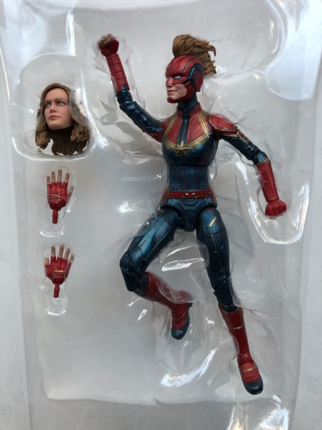 Captain Marvel Legends Figure in Bubble Packaging 6""