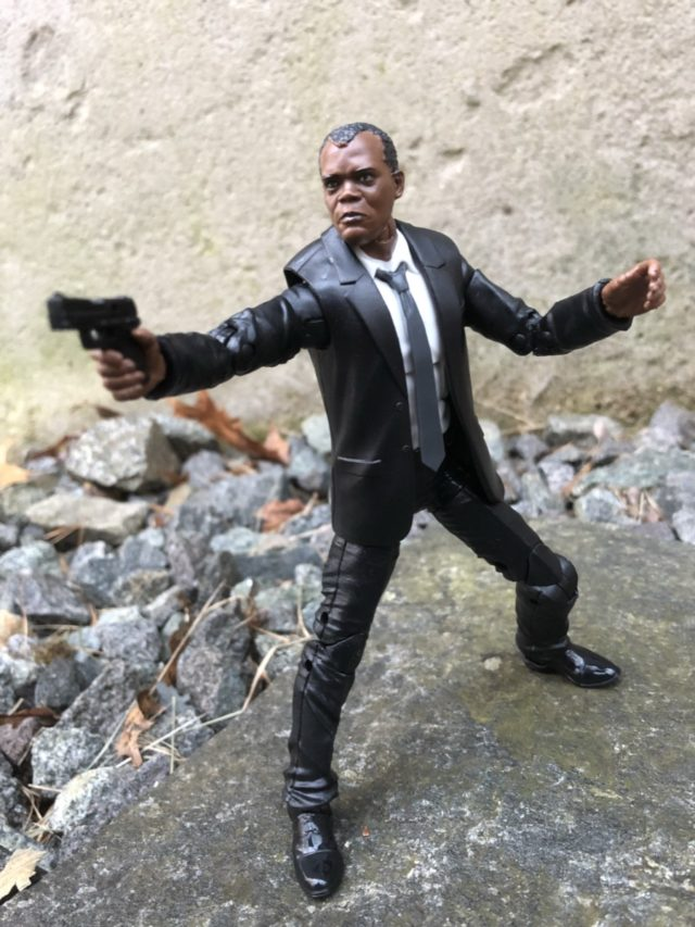 Nick Fury Marvel Legends Captain Marvel Movie Figure Holding Gun