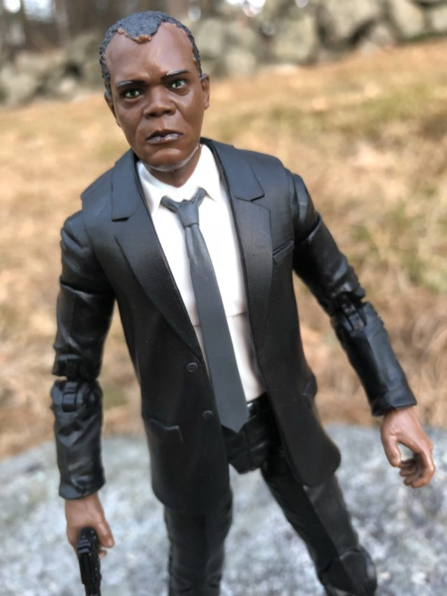 Close-Up of Young Nick Fury Marvel Legends Figure