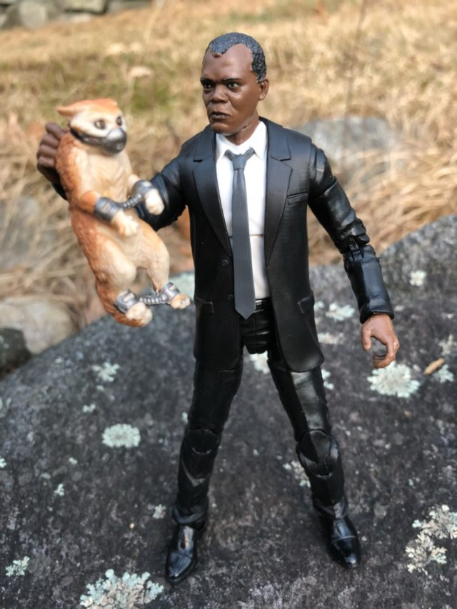 Marvel Legends Nick Fury Holding Goose the Cat Movie Figures