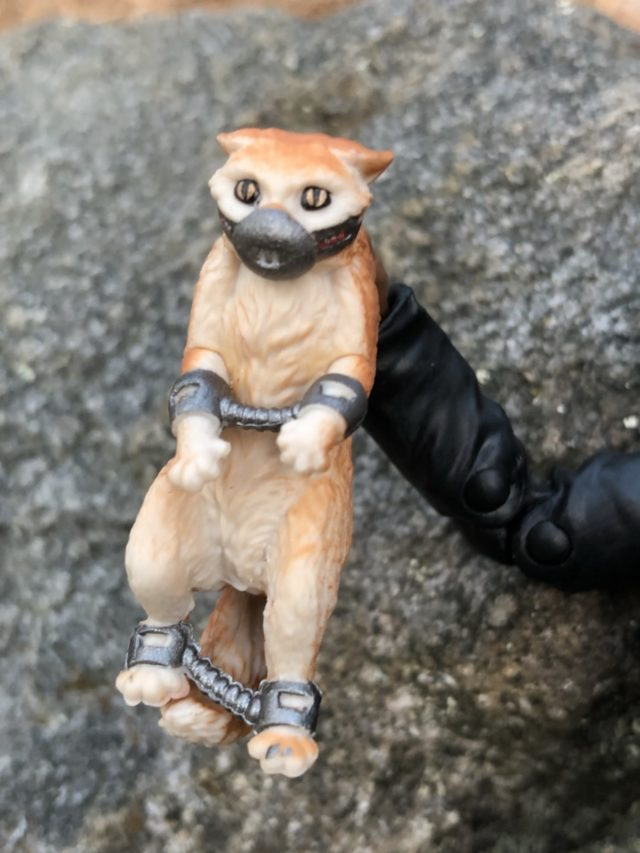 Captain Marvel Cat Goose Figure in Chains and Manacles