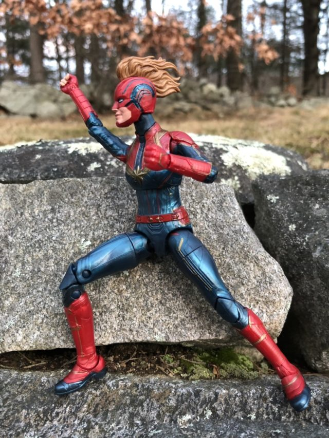 "Side View of Captain Marvel 6"" Hasbro Movie Figure"