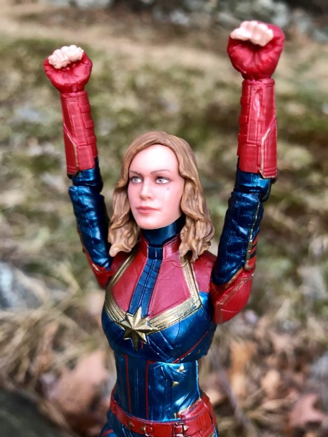 Marvel Legends Carol Danvers Movie Figure with Unmasked Head