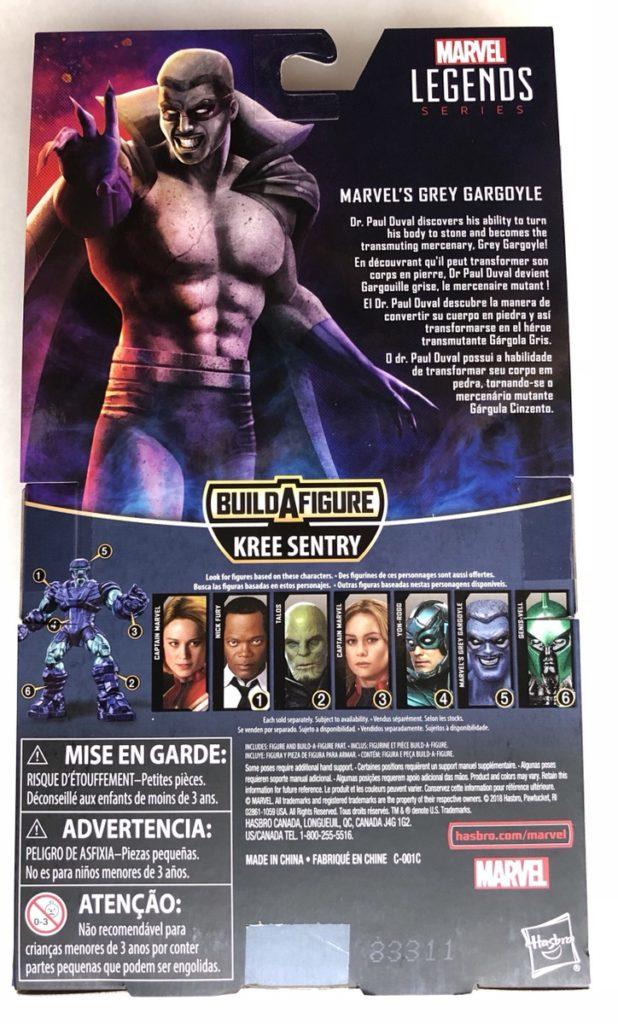Hasbro Grey Gargoyle Action Figure Box Back