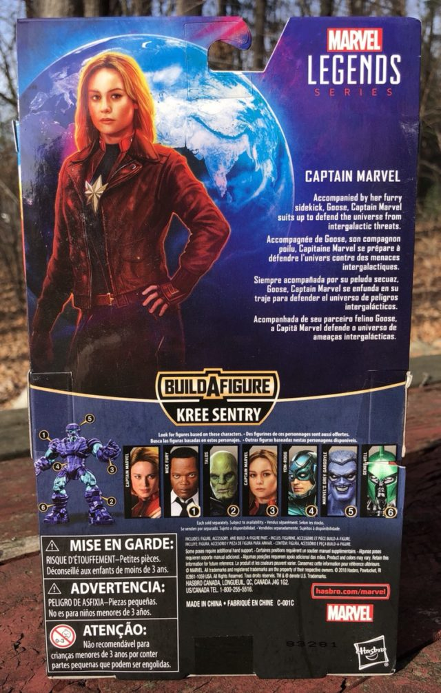 Box Back Captain Marvel Legends Figure in Flight Bomber Jacket