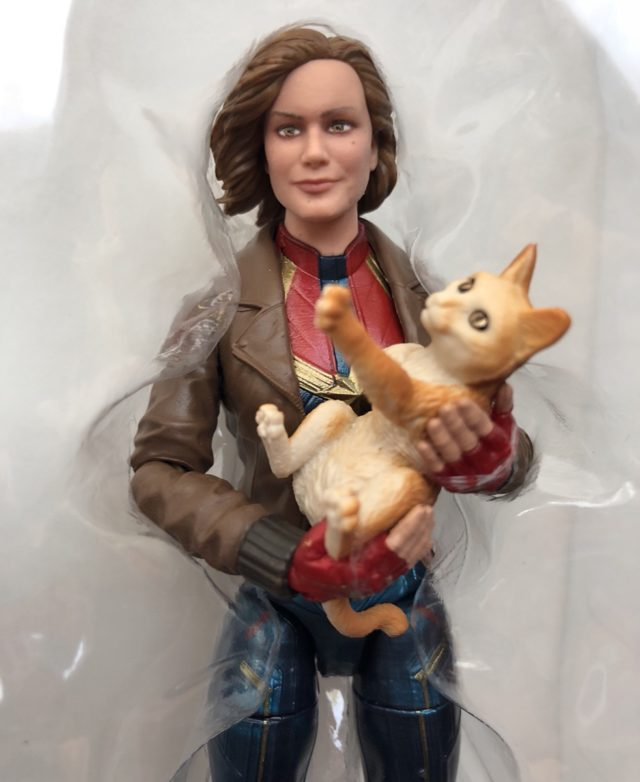Marvel Legends Captain Marvel in Bomber Jacket Head Likeness Brie Larson