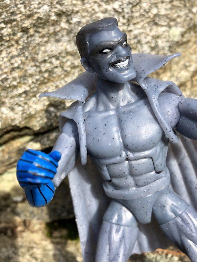 Close-Up of Grey Gargoyle Legends Figure Head Hasbro