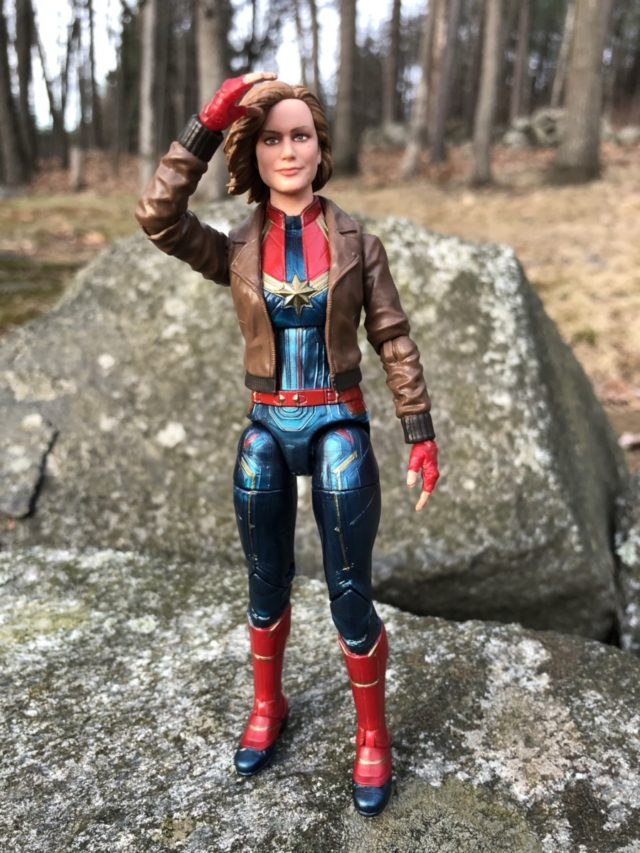 Captain Marvel Six Inch Movie Figure Saluting