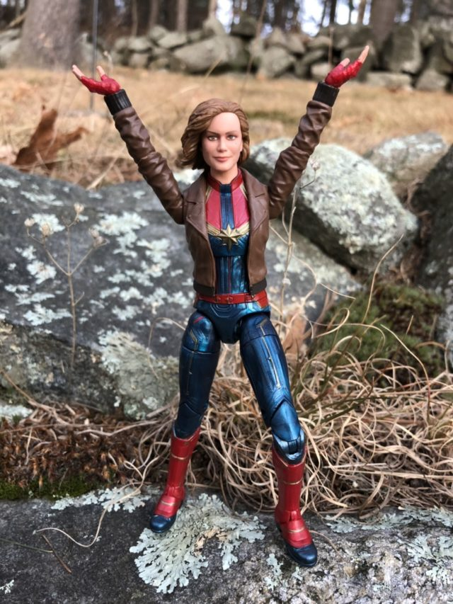 Hasbro Carol Danvers Captain Marvel Movie Figure with Hands in the Air