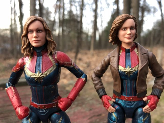 Comparison of Marvel Legends Captain Marvel Movie Figures Likenesses