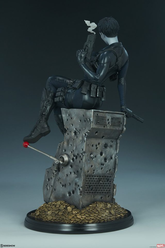 Back Side View of Domino Sideshow Collectibles Premium Format Figure