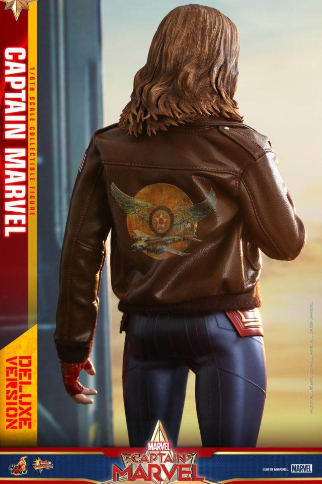 Back of Hot Toys Captain Marvel Bomber Jacket