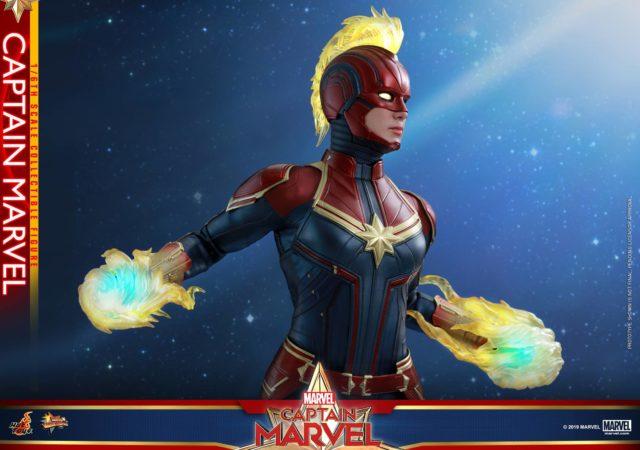 Captain Marvel Hot Toys Carol Danvers Figure Mohawk Side View