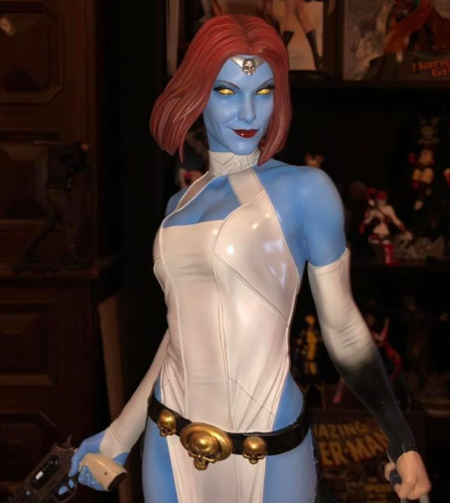 Close-Up of Mystique Sideshow Premium Format Statue