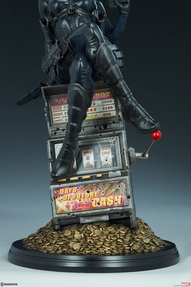 Close-Up of Sideshow Collectibles Domino Statue Slot Machine Base