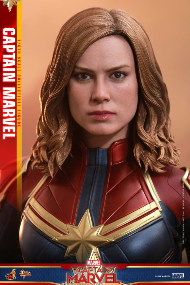 Hot Toys Brie Larson Portrait Likeness Captain Marvel Head Close-Up
