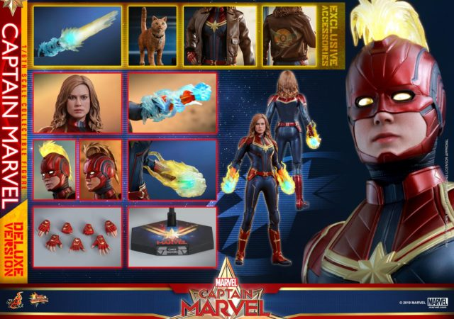 Hot Toys Captain Marvel Deluxe Figure and Accessories
