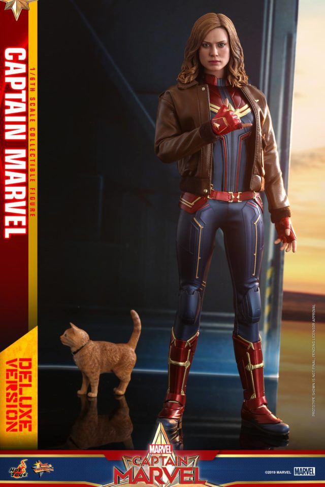 Hot Toys Captain Marvel Deluxe Figure with Jacket and Goose the Cat