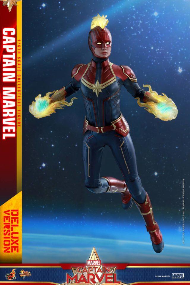 Hot Toys Captain Marvel Figure Flying
