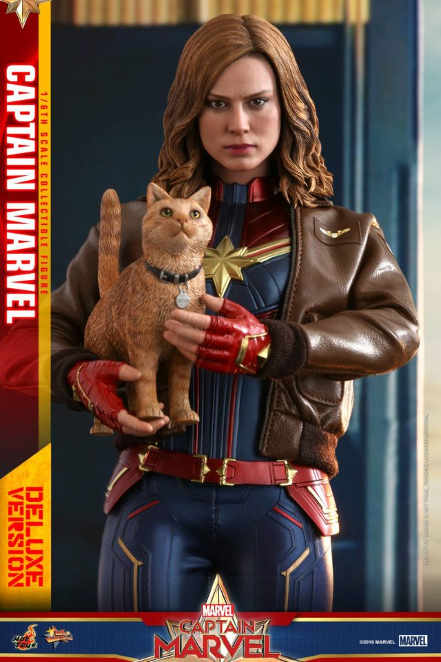 Hot Toys Captain Marvel and Goose Figures