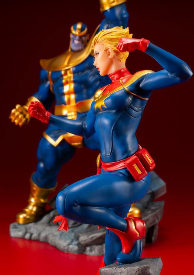 Kotobukiya Captain Marvel vs Thanos ARTFX+ Statues
