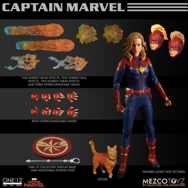 Mezco Captain Marvel Movie Figure and Accessories Goose