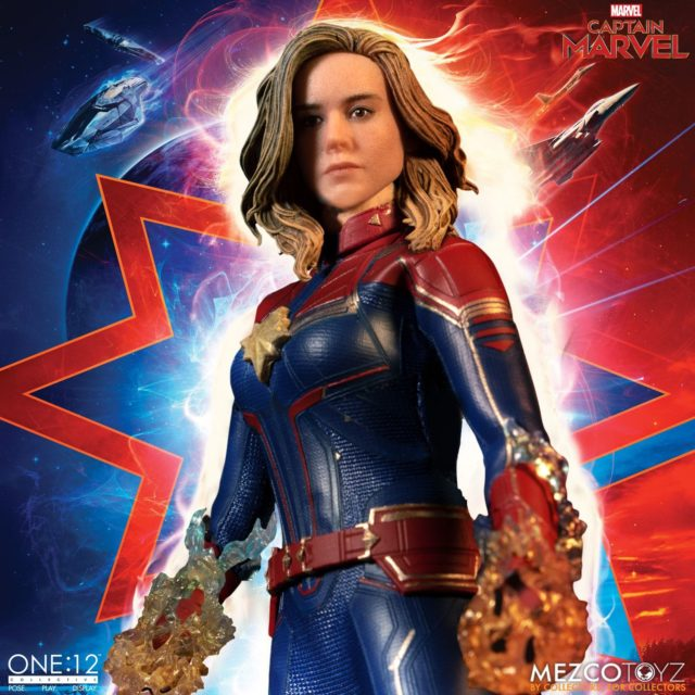 Mezco ONE12 Collective Captain Marvel Movie Figure with Energy Effects