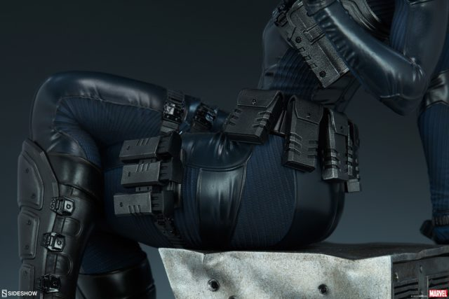 Sculpting Detail Close-Up on Sideshow Collectibles Domino PF Figure