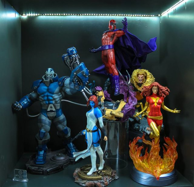 Sideshow X-Men Villains Statues Display Mystique Apocalypse Magneto Sabretooth