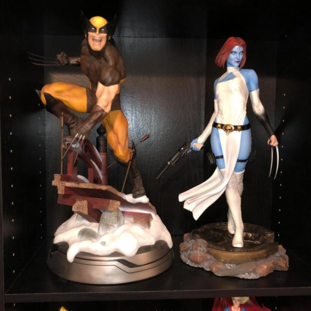 Size Comparison of Sideshow Exclusive Mystique Premium Format Figure with Wolverine
