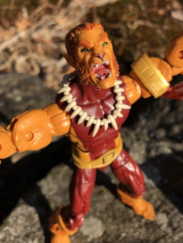 Puma Marvel Legends Figure Head Sculpt Close-Up