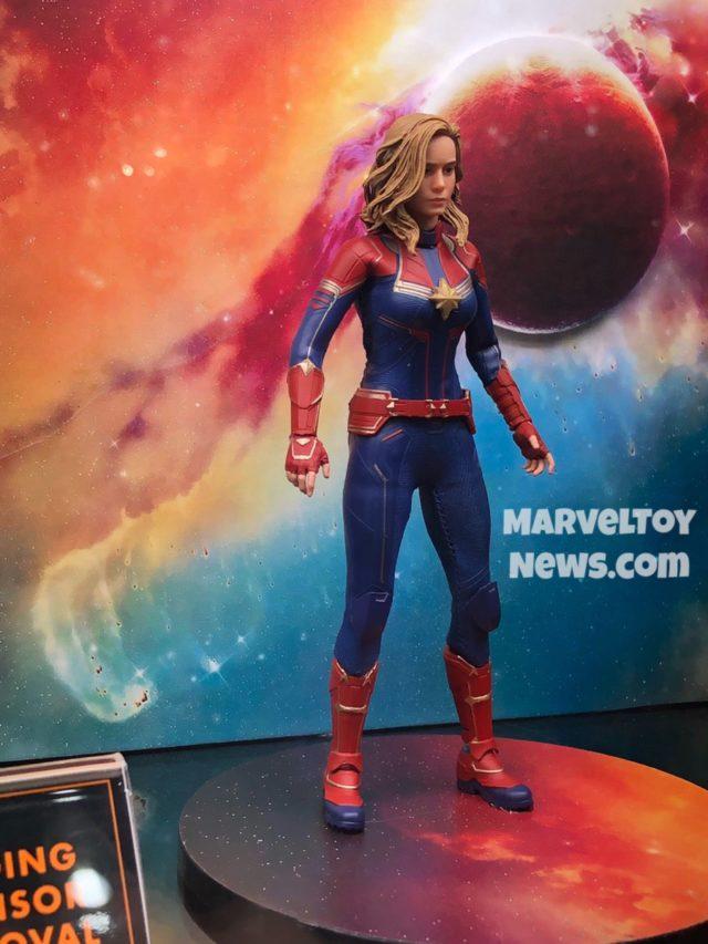 Side View of Captain Marvel Mezco Movie Figure