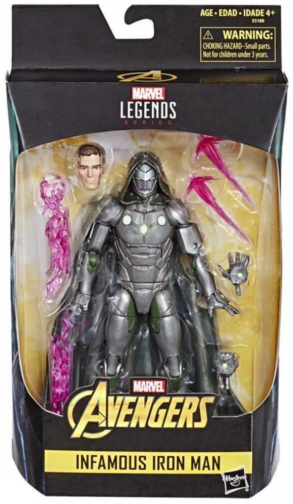 Avengers Marvel Legends Doctor Doom Infamous Iron Man Figure Packaged