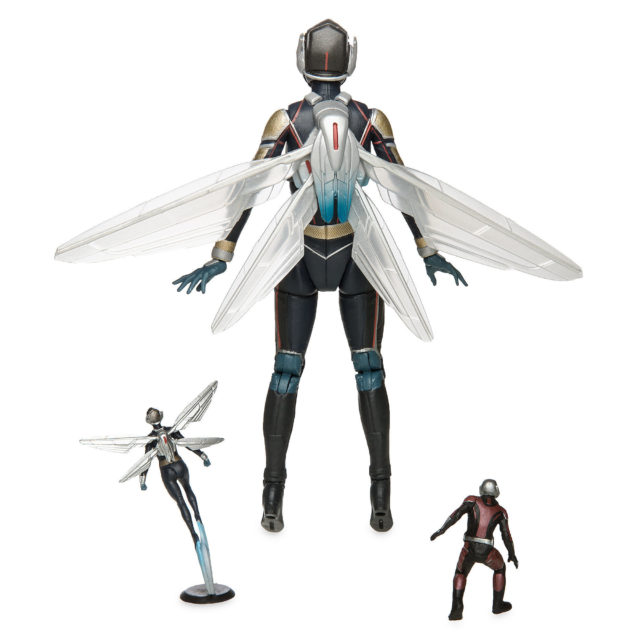Back of Marvel Select The Wasp Figure with Mini Ant-Man and Wasp