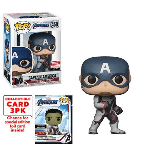 EE Exclusive Funko POP Captain America Endgame Figure with Trading Cards Pack