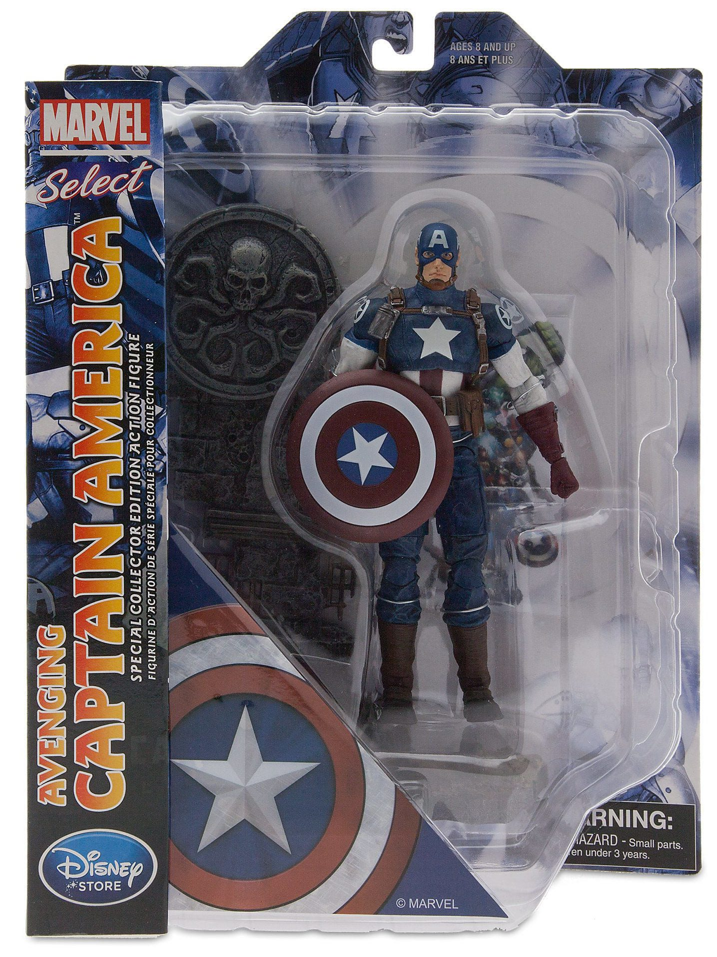 """MARVEL SELECT AVENGING HAWKEYE 7/"""" ACTION FIGURE Disney Store Exclusive Avengers"""