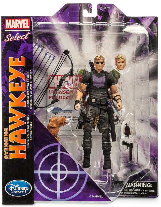 Marvel Select Hawkeye and Pizza Dog Figure Carded