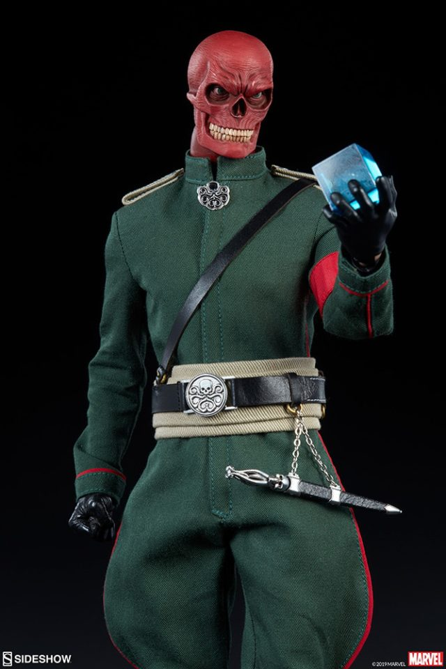 Red Skull Holding Cosmic Cube Sideshow 12 Inch Figure