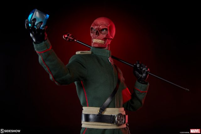 Sideshow Collectibles Red Skull Sixth Scale Figure Holding Cosmic Cube