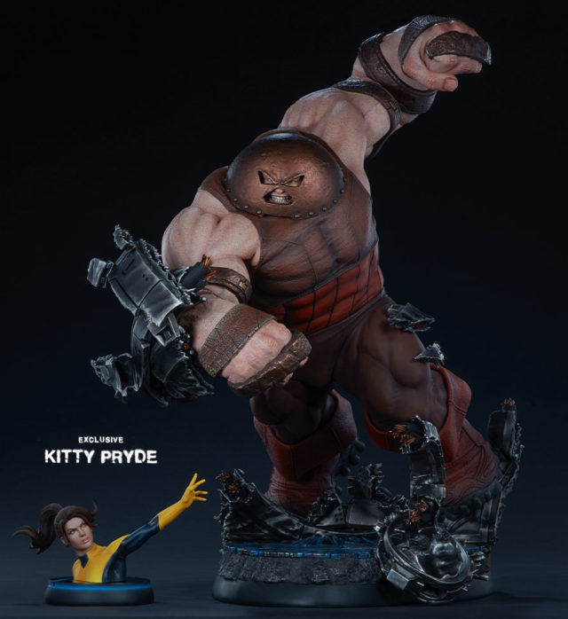 Sideshow Exclusive Kitty Pryde Statue with Juggernaut EX Maquette
