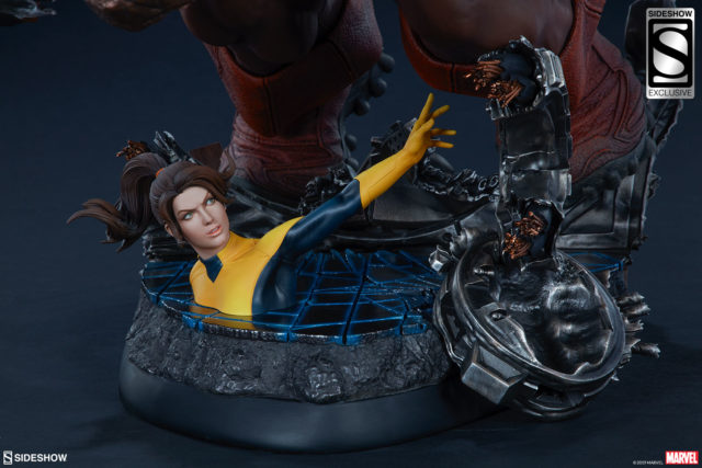 Sideshow Kitty Pryde Statue with Exclusive Juggernaut EX Maquette