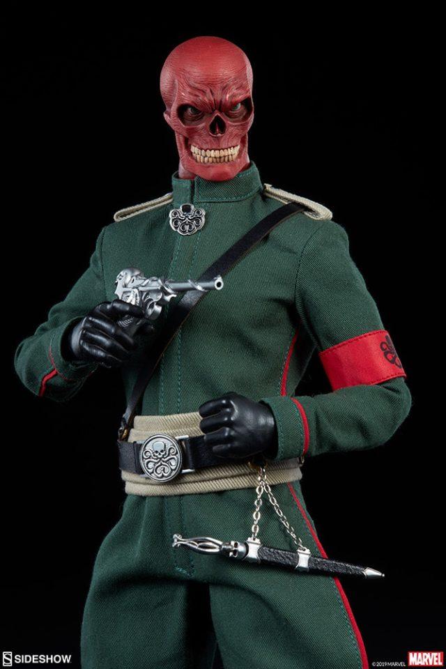 Sideshow Marvel Red Skull Figure Holding Gun