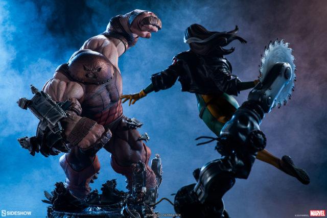 Sideshow Premium Format Rogue vs Juggernaut Statues