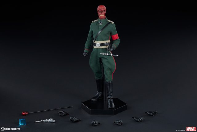 Sideshow Red Skull 12 Inch Figure and Accessories