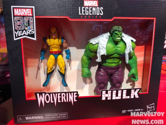 Marvel Legends 80 Years Hulk and 1st Appearance Wolverine Figures Boxed