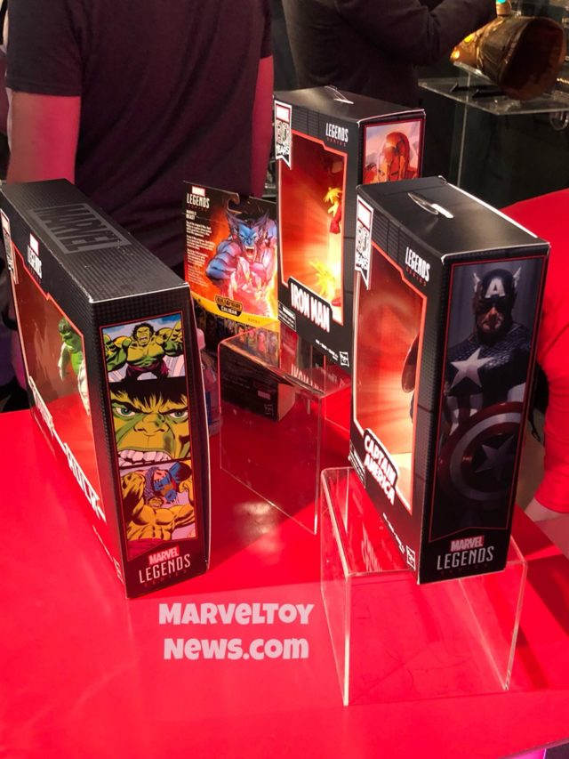 80 Years of Marvel Legends Boxes Sides Toy Fair 2019