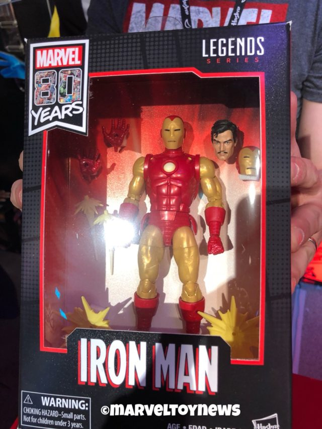 Iron Man Marvel Legends 80 Years Figure Packaged
