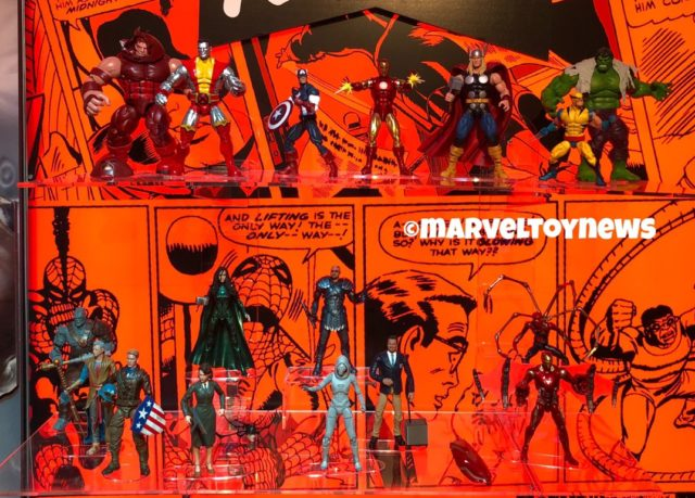 Marvel Legends 80th Anniversary Figures Display NY Toy Fair 2019