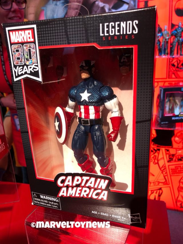 Captain America Marvel Legends 80th Anniversary Figure Packaged
